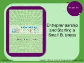 BUS110 Chap 6 - Entrepreneurship an...