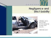 Chapter 7 - Negligence and Strict L...