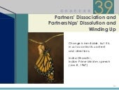 Chapter 39 – Partners' Dissociation...