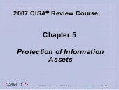Chap5 2007 C I S A Review Course
