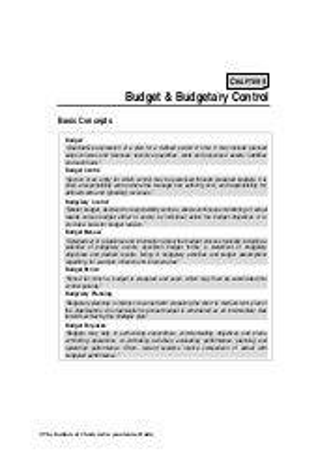 Budgetary case control dissertation study