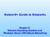 Chapter08  -- network operating sys...