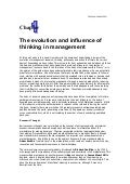 The evolution and influence of thinking in management
