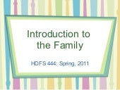 Chapter 1 introduction to the family