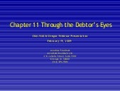 Chapter 11 Through the Debtor's Eyes