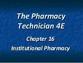 Chapter 16 hospital pharmacy