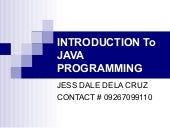 Chapter 1 introduction to java tech...