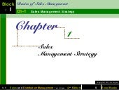 Chapter 1 sales management strategy...