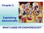 Chapter 2  explaining abnormality