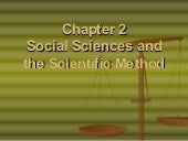 Chapter 2   Social Sciences Andthe ...