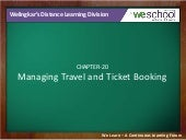 Managing Travel and Ticket Booking
