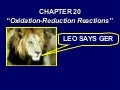 Chemistry - Chp 20 - Oxidation Reduction Reactions - PowerPoint