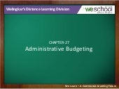 Administrative Budgeting