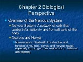 Chapter 2 biological perspective notes