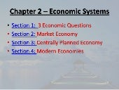 Chapter 2 Notes   Economic Systems