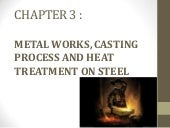 Metal work casting process and heat...