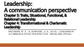 Leadership: A communication perspective (Part II)