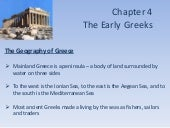 Chapter 4 - The Early Greeks