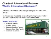 Chapter 4 international business