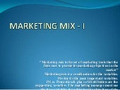 Chapter 5 marketing mix   i