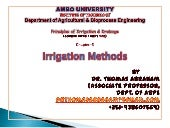 Chapter 5 methods of irrigation Dr....
