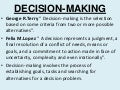 Chapter 7   Decision Making