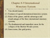 Chapter 8 9 international monetary ...
