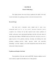 Methods of research and thesis writing chapter 3