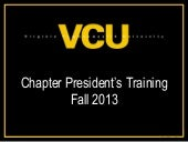 Chapter president training spring 2014