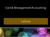 Labour Cost Control in Cost Account...