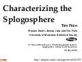 Characterizing the Splogosphere