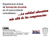 Experiencia virtual de formación do...