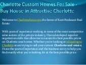 Charlotte custom homes for sale   b...