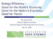 Energy Efficiency - Good for the Wo...