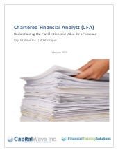 Chartered Financial Analyst CFA Whi...
