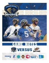 Game Notes - Hounds vs Outlaws - 6/27/15