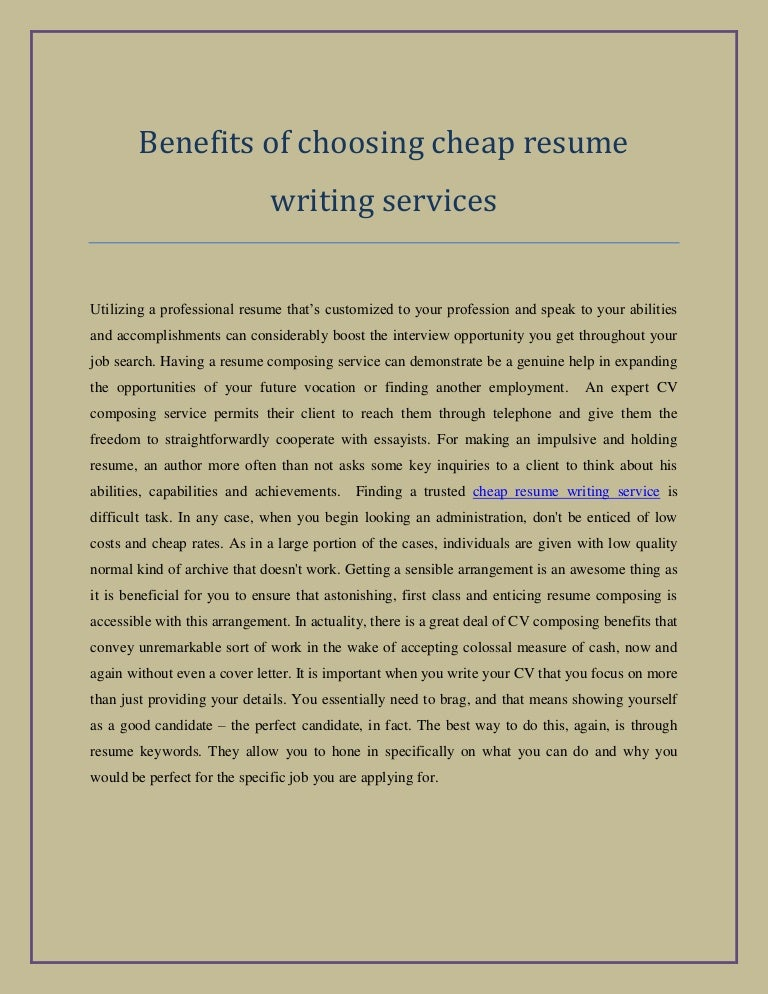 Cheap Resume Writer Site For Masters