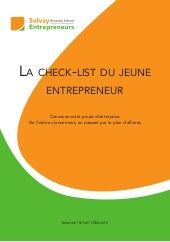 Check list - Solvay Entrepreneurs