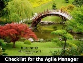 Checklist for the Agile Manager