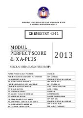 Perfect Score Chemistry SPM 2013