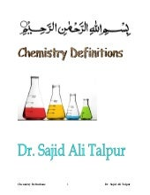 Definitions of Chemistry terms by S...