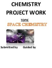 Chemistry project - Space chemistry