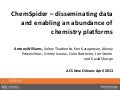 ChemSpider – disseminating data and enabling an abundance of chemistry platforms