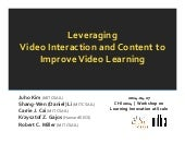 CHI2014 Workshop - Leveraging Video...
