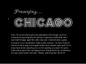 A Brief Musical Interlude: Chicago-...