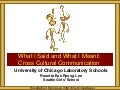 University of Chicago Laboratory Schools CCC for Teachers