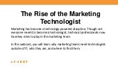 AMA/Aquent: The Rise of the Marketing Technologist
