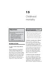 Child Healthcare: Childhood mortality