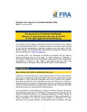 FRA - Child trafficking Media Release