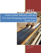 China's Solar Industry and the U.S....